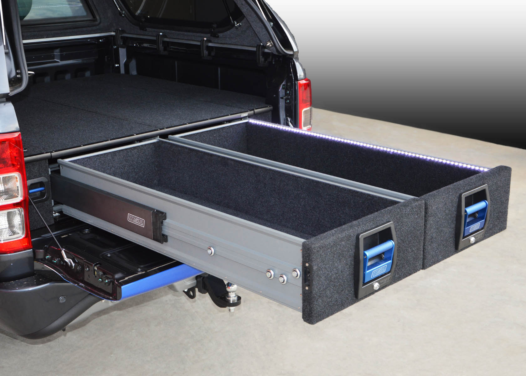 Truck Bed Bed >> Ford Ranger / Mazda BT50 Double Drawer System | MSA 4x4 Accessories